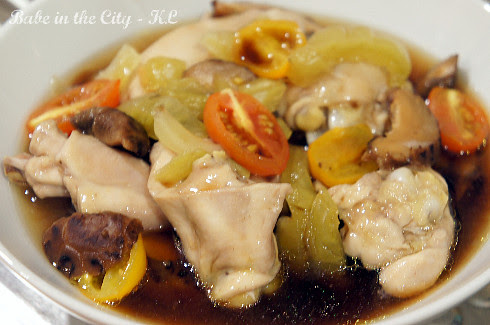 Steamed Chicken with Pickled Mustard Cabbage and Mushroom - after
