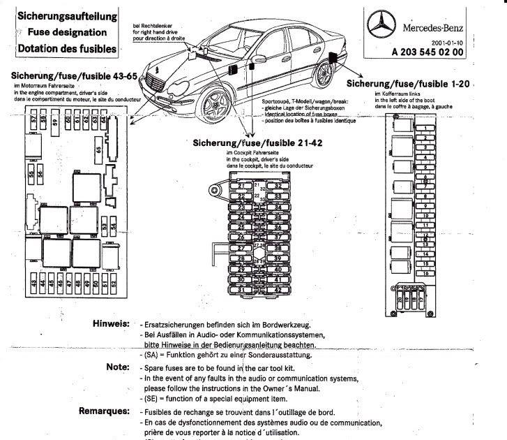 2001 Audi Fuse Box Location