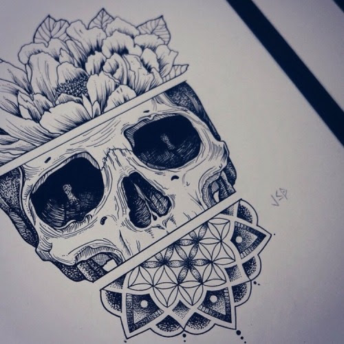 Skull Tattoo Drawing At Getdrawingscom Free For Personal Use