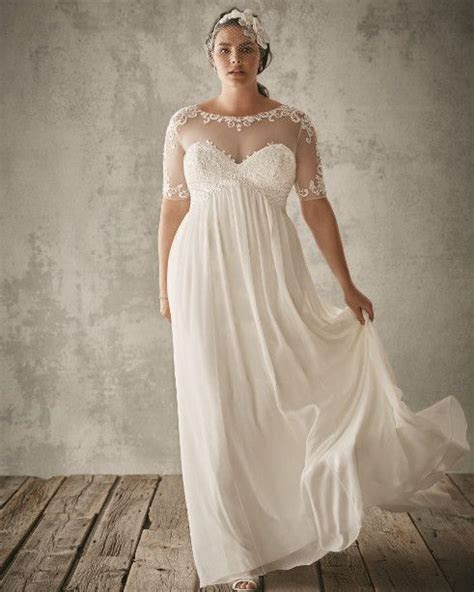 FOR THE VINTAGE BRIDE: Chiffon Sheath with Illusion