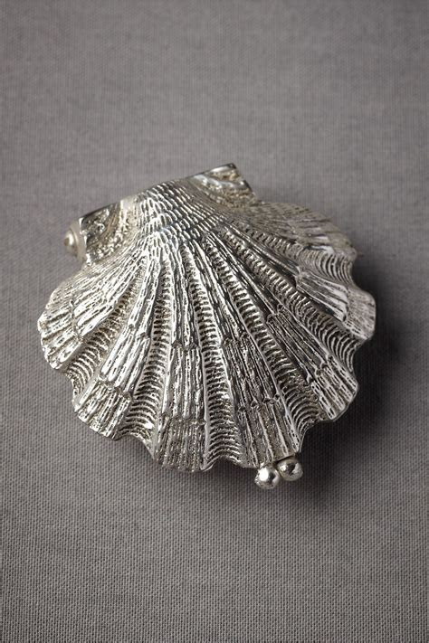 Anthropologie Weddings: (squeal!) Silvery Seashell Ring