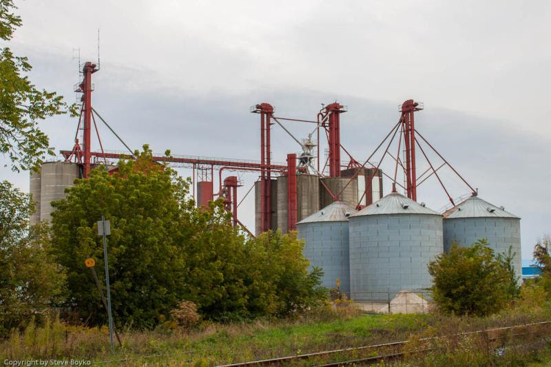 Grain elevator in Chatham Ontario