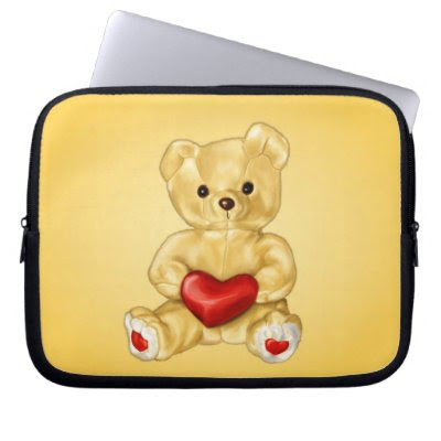Cute Teddy Hypnotist 10in Laptop Computer Sleeve