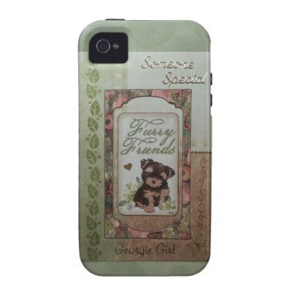 Cute puppy tan/green iPhone 4 cases