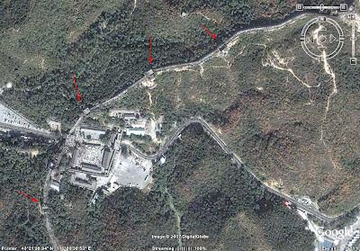 구글어스 만리장성 위성 사진