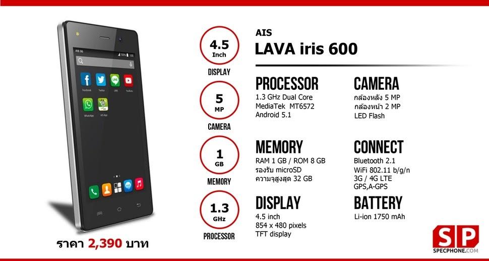 Download Stockroom LAVA IRIS 600 tested