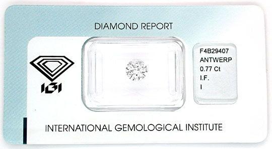 Foto 1, Brilliant 0,77ct Lupenrein IGI Perfekter Schliff Juwel!, D5524