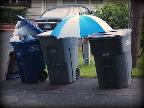 Umbrella over disposables