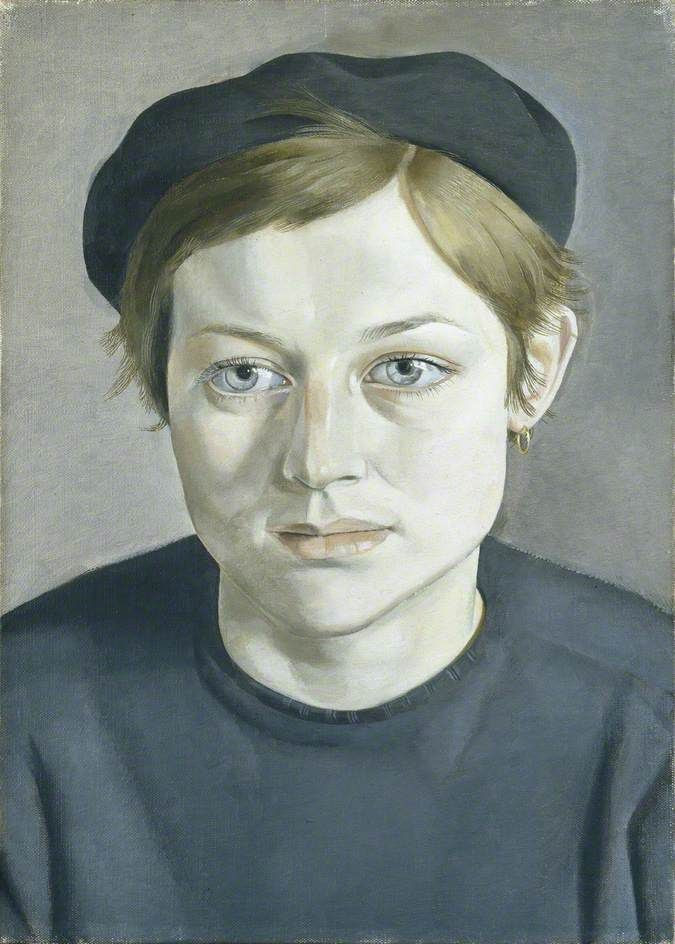 girl with beret lucian freud - Google Search