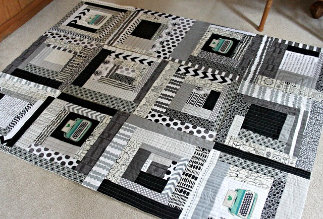 continue making log cabin blocks