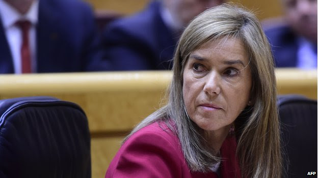 A file picture taken on October 14, 2014 shows Spain's Minister of Health, Social Services and Equality Ana Mato