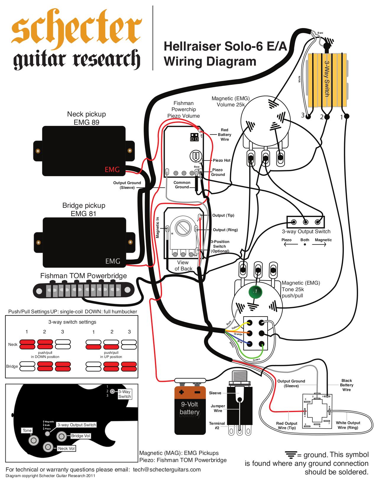 34 Schecter Diamond Series Wiring Diagram