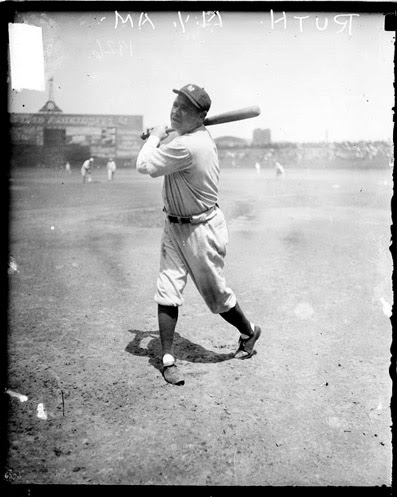 Ruth at Comiskey Park in 1926 (Photo courtesy of the Library of Congress)
