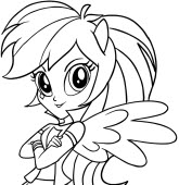 Drawing My Little Pony Equestria Girls Coloring Page