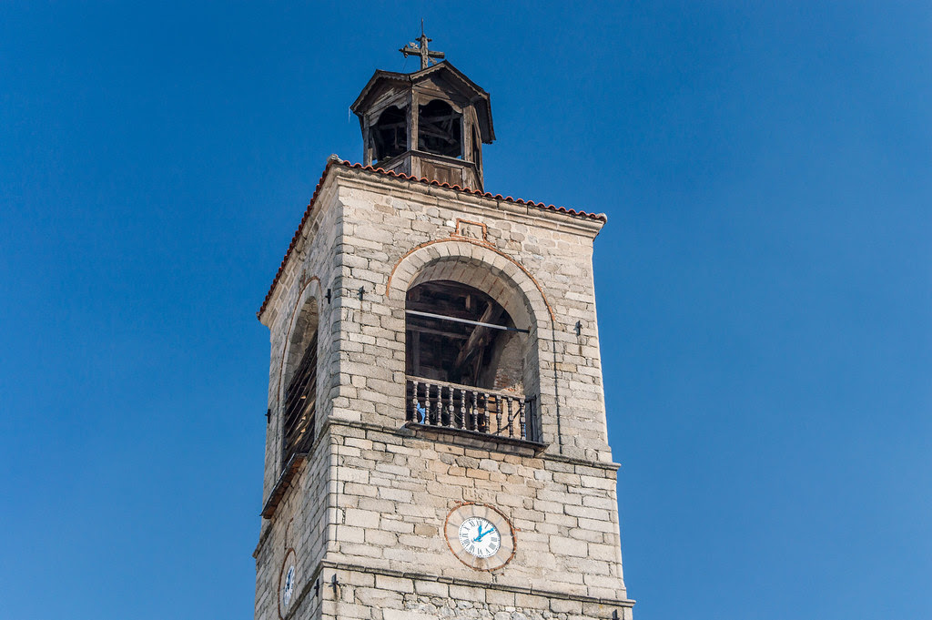The clock bell tower in Bansko
