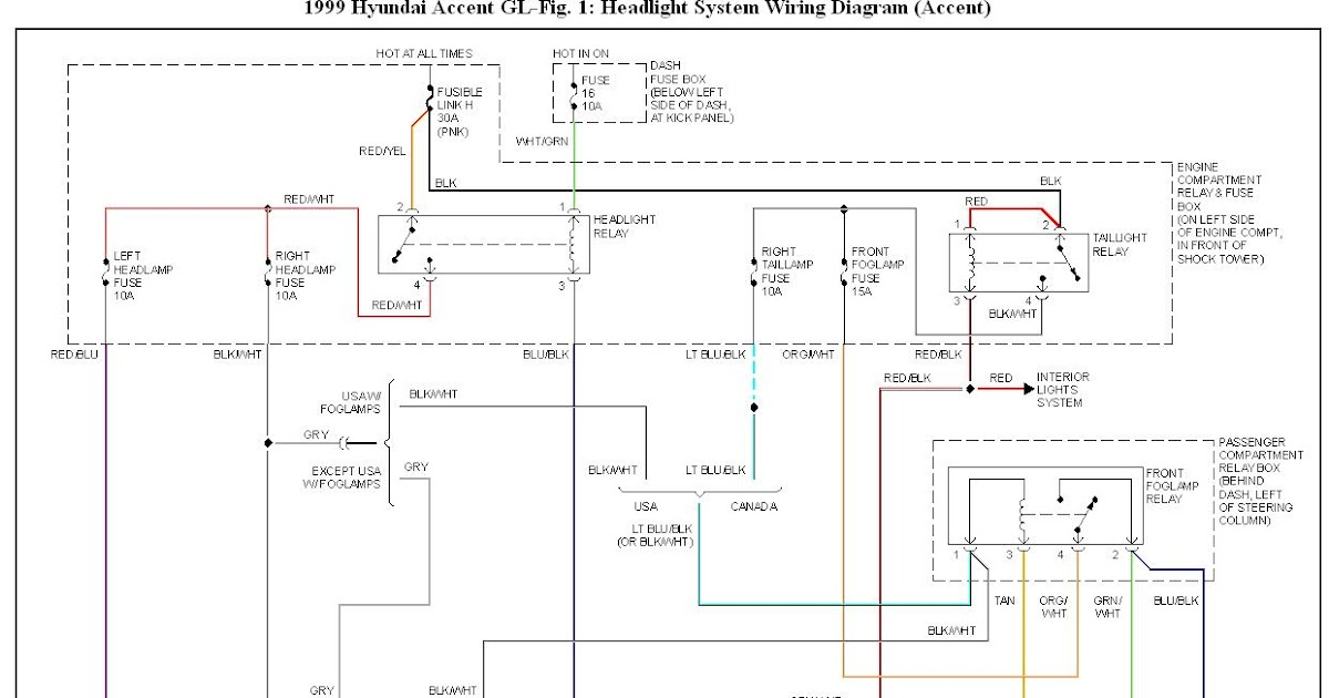 99 Hyundai Elantra Wiring Color