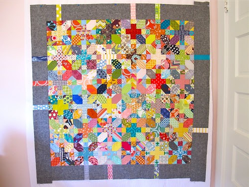 finished x&+ quilt top