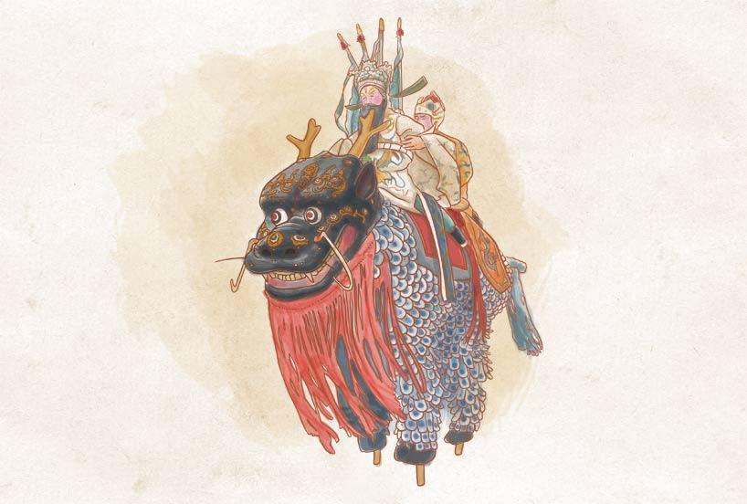 Caigaoqiao: las bestias sobre zancos