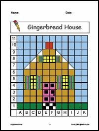 mathwire gingerbread house coordinate graphing. Black Bedroom Furniture Sets. Home Design Ideas