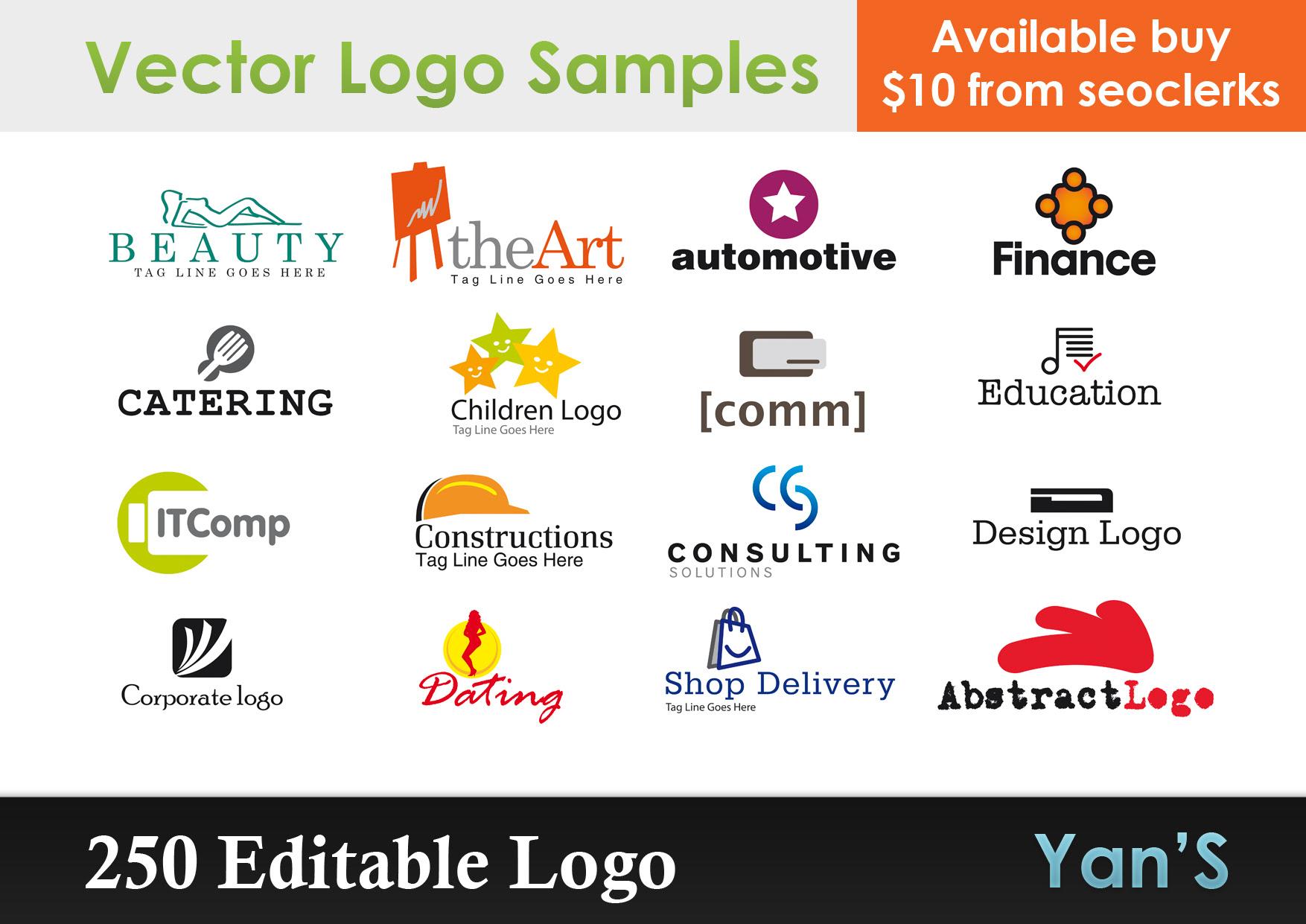 Send Gift 250 Editable Logo Vector Royalty FREE for $  5 - SEOClerks