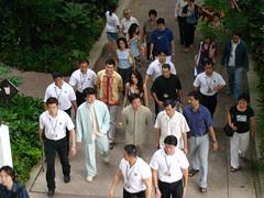 Jackie Chan and his Entourage @ Botanical Gardens