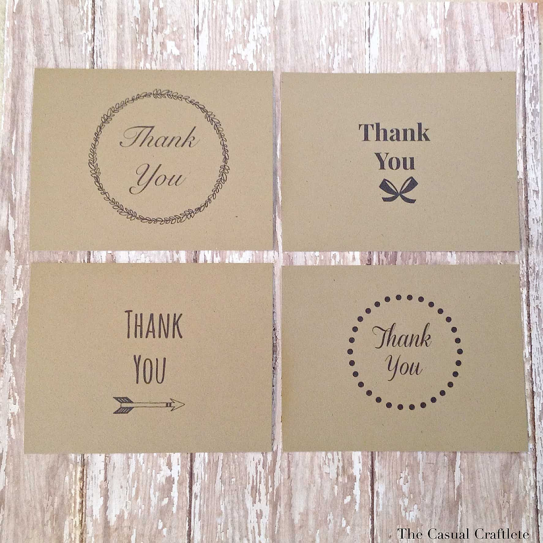 4 {FREE} Printable Thank You Cards