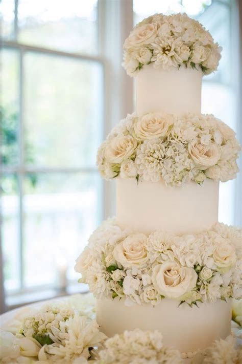 58 best images about Rustic/ Fresh Flower Wedding Cakes on