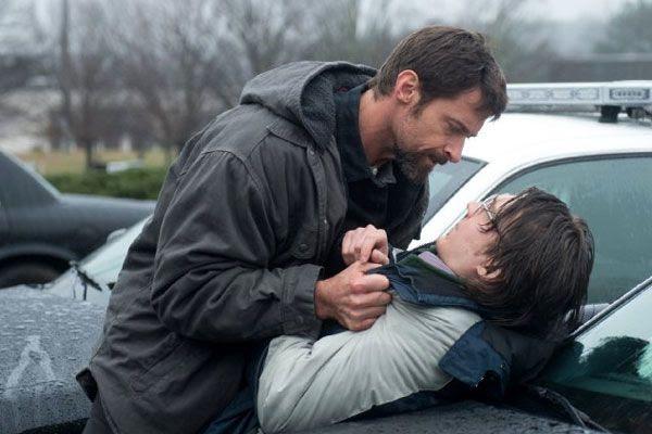 Keller Dover confronts Alex Jones (Paul Dano), the purported kidnapper of Dover's daughter, in PRISONERS.