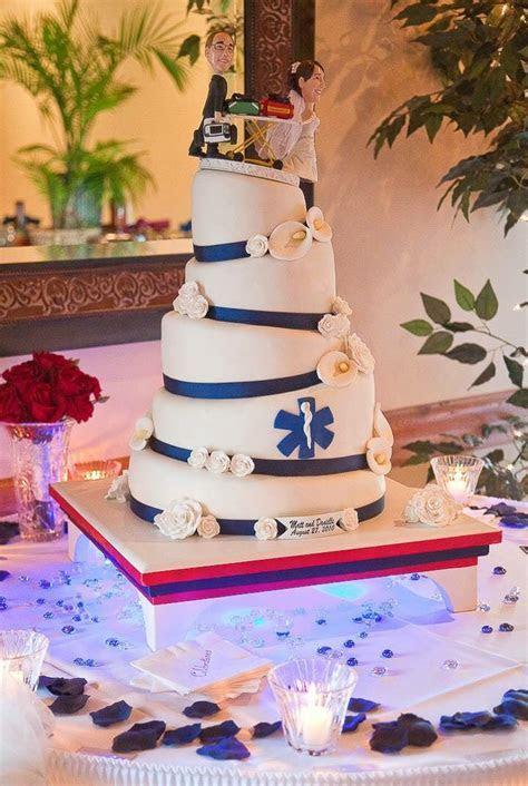 Paramedic wedding cake, topsy turvy   Cakes from LonaCakes