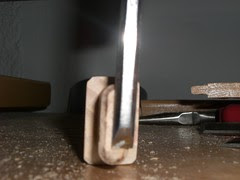 Scraping glue off the tenons