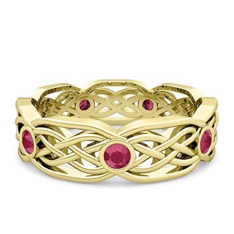 Custom Celtic Wedding Band Ring for Men and Women in Gold