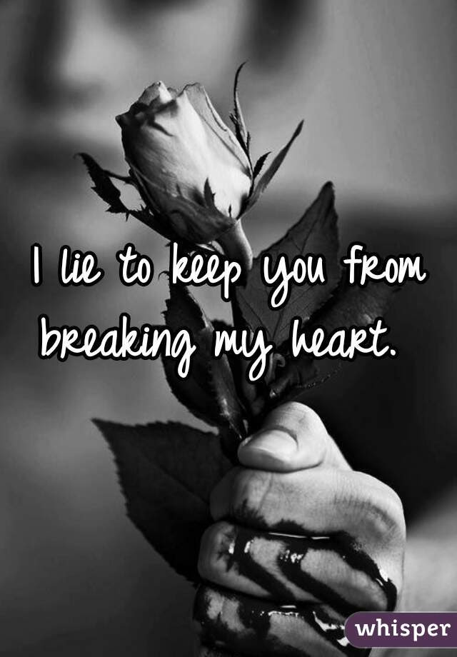 I Lie To Keep You From Breaking My Heart