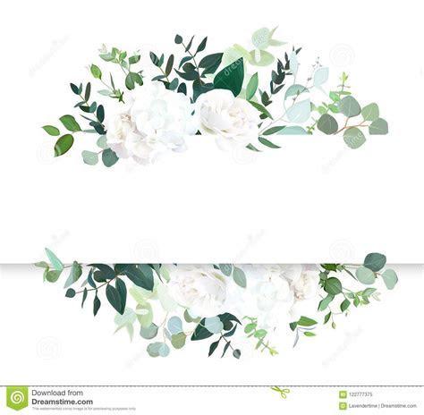 Wedding Floral Horizontal Vector Design Banner. Stock
