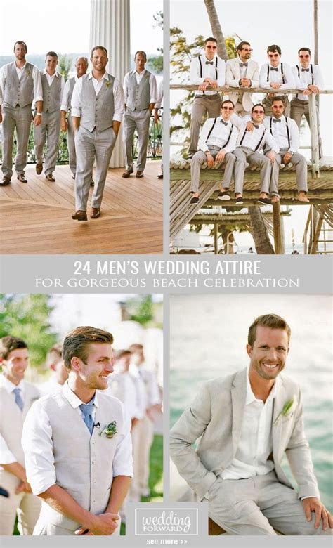 mens beach wedding attire ideas  pinterest