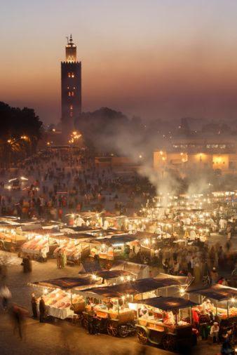 Djemaa el Fna square, Marrakesh, Morocco
