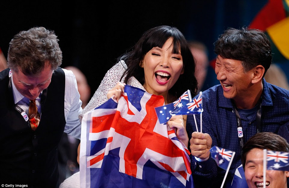 Australia's Dami Im came a close second to Ukraine as it appeared she was set to win for much of the voting process