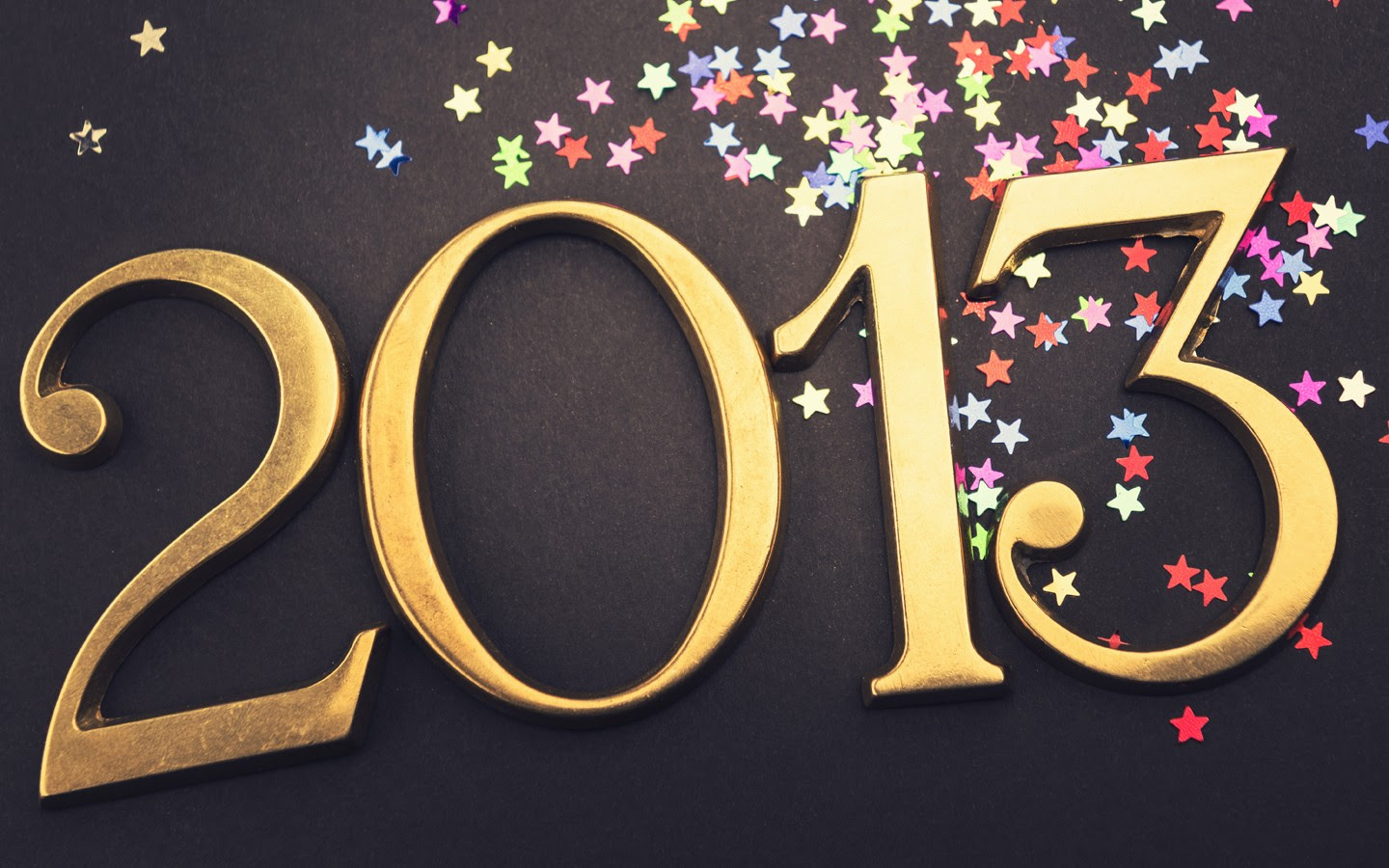 Gold 2013 New year text on christmas decoration 32279 - Others