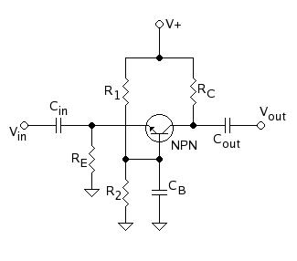 Montagem transístor base comum