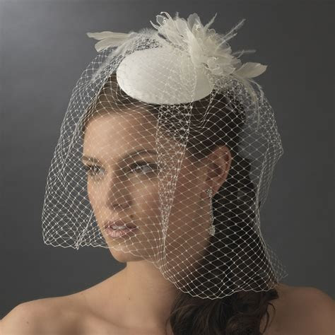 Wholesale Vintage Bridal Hat with Bird Cage Face Veil