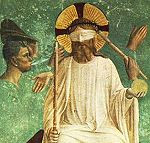 Fra Angelico: The Mocking of Christ (detail)