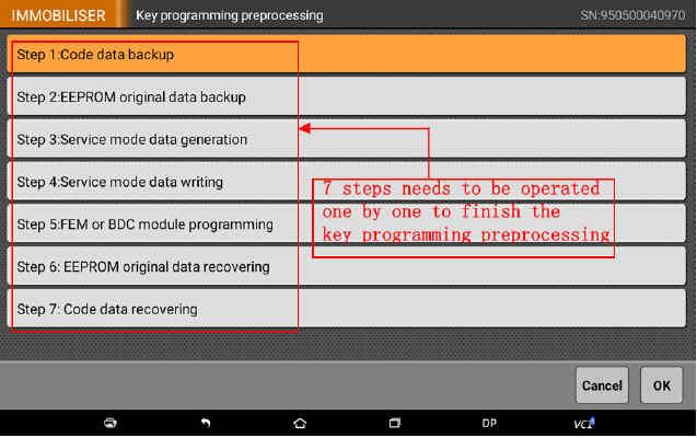 OBDSTAR X300 DP Program Smart Key for BWM FEM BDC (10)
