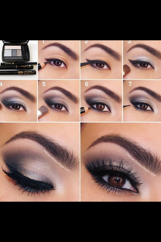 Black and white eyeshadow... Would like to try with blue (instead of black)