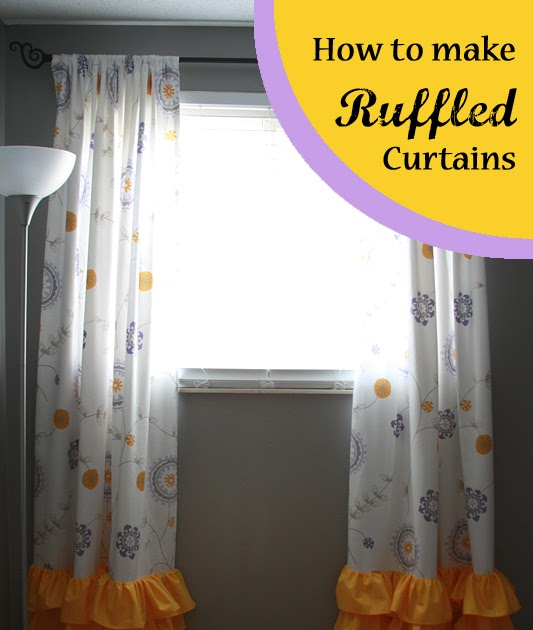 Unique Runs With Spatulas: Crafty Fridays: How to Make Curtains with Ruffles CM49