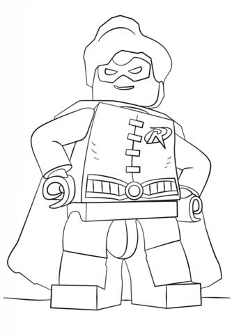 Disegno Di Robin Lego Da Colorare Disegni Da Colorare E Stampare