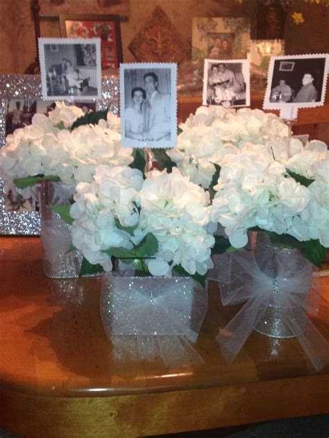 60th Anniversary party idea for table centerpiece. Put a