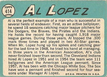 Al Lopez (back) by you.