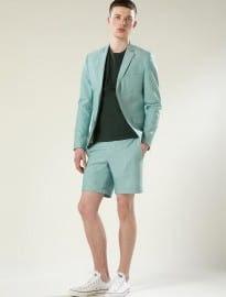 Topman Apple Green Skinny Shorts Suit
