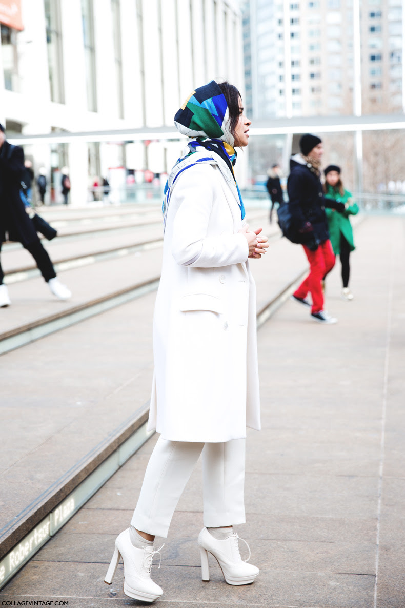 New_York_Fashion_Week-Street_Style-Fall_Winter-2015-Miroslava_Duma-Scarf-White_Outfit-