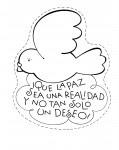 Recursos educativos: Dibujos para colorear en el día de la Paz