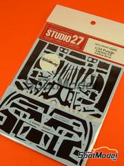 Studio27: Patron de fibra de carbono en calca escala 1/24 - Porsche Carrera GT - para kit de Tamiya TAM24275